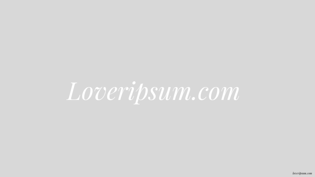 loveripsum